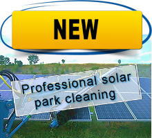 Professional solar park cleaning technology